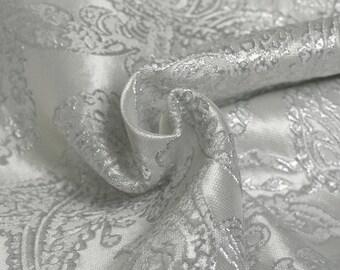 Silver brocade Haute Couture