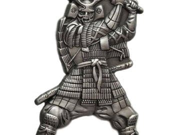 Japanese Samurai Warrior with Katana blade Pin/Brooch