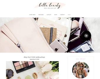 WordPress Blog Theme - Bella Beauty - eCommerce Blog Template - WordPress Website Theme Design
