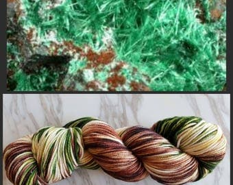 Hand Dyed Yarn, Superwash Merino Worsted Weight Variegated Yarn Perfect for Hats, Cowls, Scarves and Sweaters - Brochantite