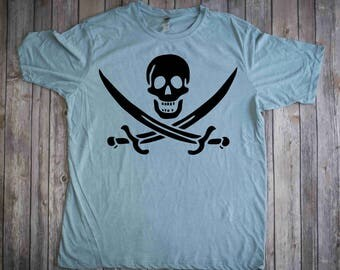 Jolly Roger Pirate T-Shirt, Gifts , Calico Jack Pirate shirt