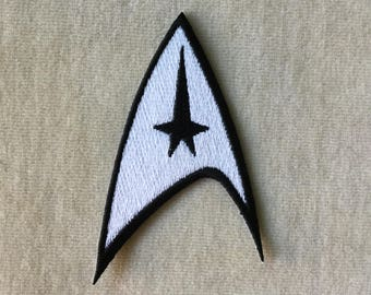 Star Trek Command Logo Iron On Patch #White