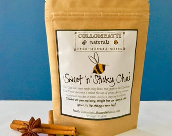 Australian Tea Sweet'n'Sticky Chai - Collombatti Naturals - Loose Leaf Black Tea - Birthday, Christmas, Mother's or Father's Day gift