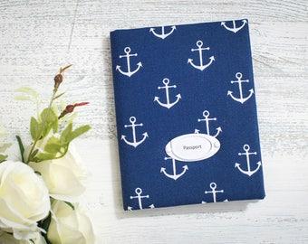 nautical baby shower kids passport cover kids gift kids passport holder passport vegan kid custom passport baby boy gift anchor