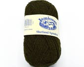 Destash Yarn - Shetland Yarn - Green Yarn - Knitting Wool - Shetland Wool - Yarn for Sale - Fair Isle - Shetland - Wool Yarn - Knitting Yarn