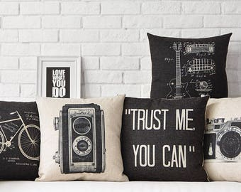 Modern Black and White cushion