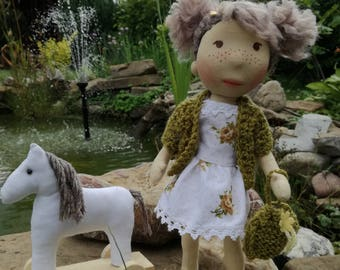 Handmade doll and horse