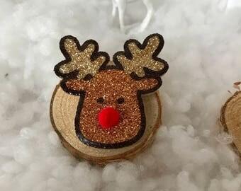 """Brooch """"Santa's reindeer"""""""