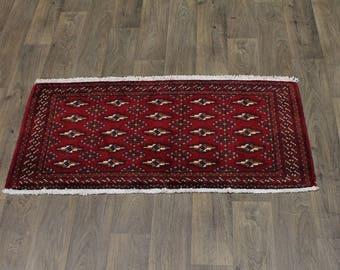 2X5 Unique Handmade Plush Large Turkoman Persia Rug Oriental Area Carpet 2ʹ2X4ʹ6