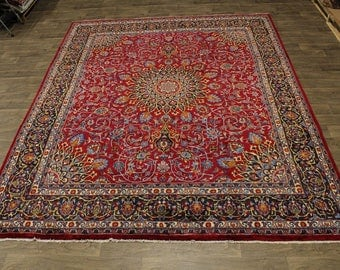 Gorgeous Hand Knotted Plush Kashmar Persian Rug Oriental Area Carpet Sale 10X12