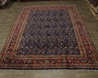 Allover Floral Unique Handmade Kashmar Persian Rug Oriental Area Carpet 10X13