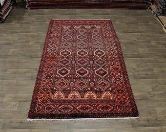Rare Geometric Design S Antique Bakhtiari Persian Rug Oriental Area Carpet 6X10