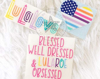 LLR Inspired Decals - Unicorn - LuLaLove - Customizable Colors and Phrases! By The Shore Decals
