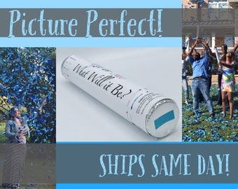 "24"" CONFETTI CANNON Gender Reveal Confetti Cannon Smoke Bomb Alternative Ships Same Day!"