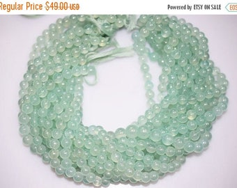 50% OFF Sea Foam Chalcedony AB Coated Smooth Round Beads , Chalcedony Smooth Round , 7.5 - 8 mm - MC538