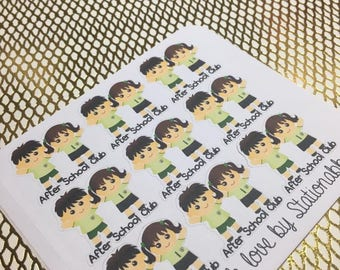 After School Club Functional Planner Stickers