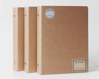A5 Planner Binder, 6 ring binder, kraft planner cover, kraft binder, agenda, a5 ring binder, refillable planner, planner organizer, Day