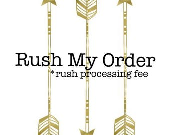 Rush Order Fee, Expedited Processing