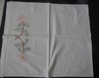 FREE SHIPPING USA White Cotton Dresser scarf Table Runner With Hand Embroidery  160C