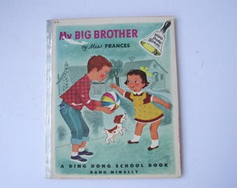 Vintage 1954 Ding Dong School Book My Big Brother by Miss Frances  2262