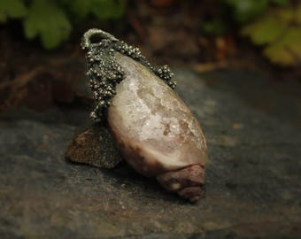 ancient crystallized shell pendant