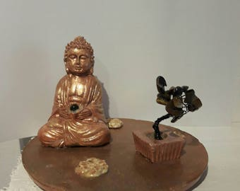 Buddha with small tree