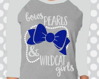 Bows, Pearls and Wildcat Girls svg, Wildcat svg, Wildcats svg, Cut file, SVG, Kentucky, Download, U of, Football, commercial use ok, dxf