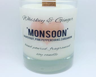 Monsoon 30cl wood wick candle