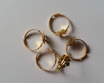 Gold Ring Blanks, High Quality Gold Ring Blanks Pack of 5