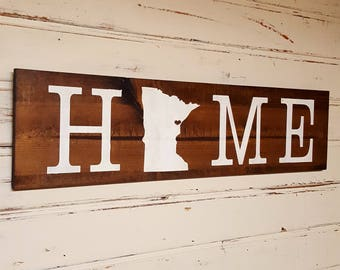 Customizable Home State Sign