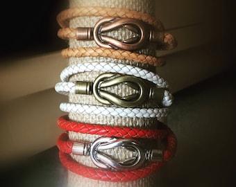 Marine Knot Leather Wrist Wrap