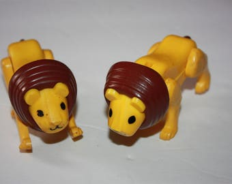 Vintage Fisher Price Little People Circus Lion Lot