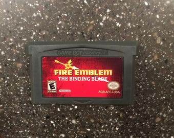 Fire Emblem The Binding Blade Gameboy Advance GBA DS RPG Game Nintendo