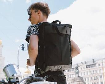 Black Backpack, City Backpack, Office Bag, Men's Backpack, Gift for boyfriend, Gift for Christmas