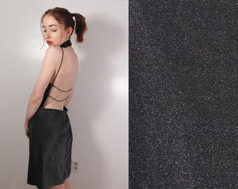 90s Backless Mini Dress : Size M/L