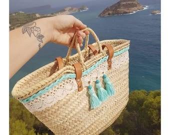 Turquoise lace basket