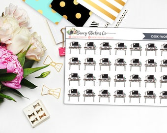 Desk/Work Planner Stickers | for use with Erin Condren Lifeplanner™, Happy Planner
