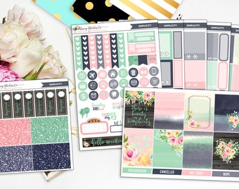 Simplicity Full Weekly Planner Sticker Kit | for use with Erin Condren Lifeplanner™, Filofax, Personal, A5, Happy Planner