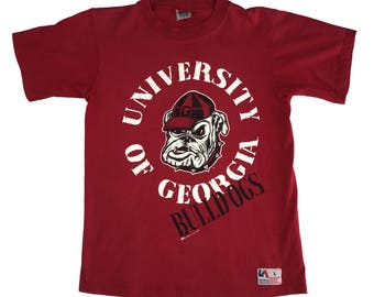 90s UGA Georgia Bulldogs Circle Logo T-Shirt (M/L)