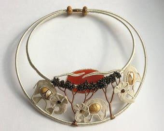 "Necklace ""Savanna at the sunset"""
