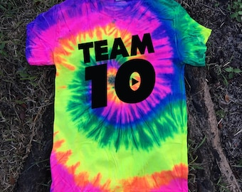 Official Team 10 Official we have size for kids Unisex Shirt shirt Tie-Dye  Ask a question Team 10 Jake Paul JP t-shirt best price fast
