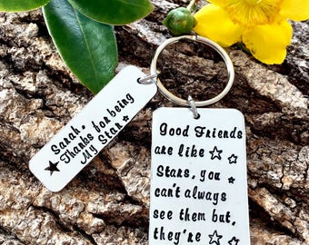 Good Friends, Leaving Gift, Best Friend Gift, Best Friends, Gift for a Friend, Gift for Her, Forever Friends, Hand stamped, Christmas Gift