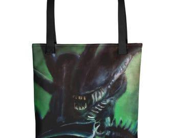Alien Xenomorph Tote bag