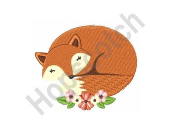 Fox - Machine Embroidery Design