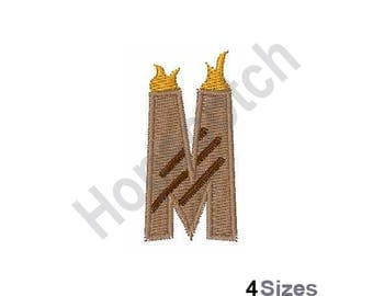 Letter M - Machine Embroidery Design, Grill Master Font