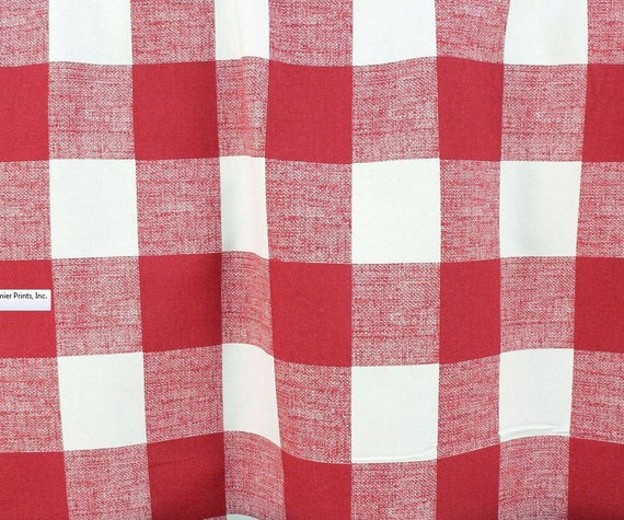 Red Plaid Buffalo Check Curtain Panels Window Treatments Red