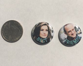 "Law and Order: SVU Best Friends 1"" Pinback Button Set of 2"