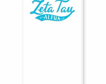 ZETA TAU ALPHA Hand-Lettered Notepad