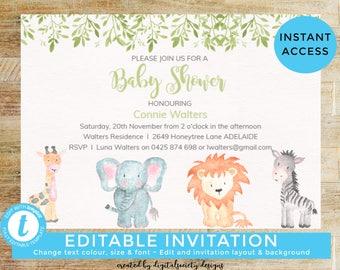 Baby shower invite Etsy