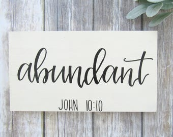 Abundant Wood Sign, Word of the Year Customizable Sign, Wood Sign, Custom Wood Sign, Farmhouse Decor